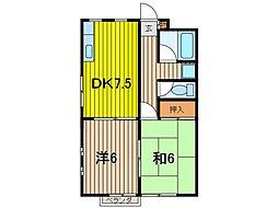 キャッスルM[2階]の間取り