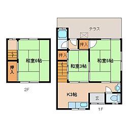 [テラスハウス] 奈良県奈良市三条桧町 の賃貸【/】の間取り