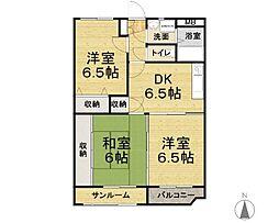 ユーミーマンション青山[203号室]の間取り