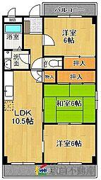 コムフォ−ト原3[2階]の間取り