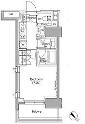 東京メトロ有楽町線 月島駅 徒歩1分の賃貸マンション 9階1Kの間取り