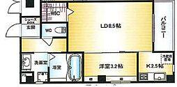 Osaka Metro千日前線 北巽駅 徒歩15分の賃貸マンション 10階1LDKの間取り