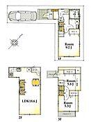 A区画 建物参考プラン間取り/3LDK、延床面積/91.98?、建物参考価格/1354万円(税込)