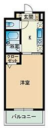 福岡県福岡市南区高木2丁目の賃貸マンションの間取り