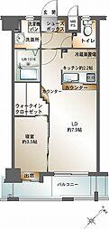 福岡県福岡市中央区春吉3丁目の賃貸マンションの間取り