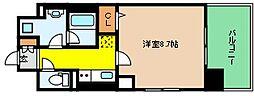 JR東海道・山陽本線 六甲道駅 徒歩3分の賃貸マンション 2階1Kの間取り