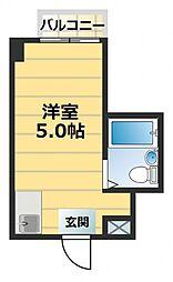 ジオナ深江橋[11階]の間取り