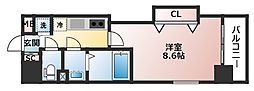 Luxe玉造II[11階]の間取り