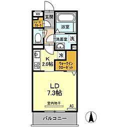 D-room岩塚 (ディールームイワツカ)[2階]の間取り