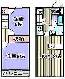 [タウンハウス] 大阪府岸和田市作才町 の賃貸【/】の間取り