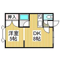 北海道苫小牧市桜木町2丁目の賃貸アパートの間取り