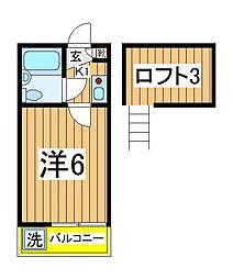ジュネパレス江戸川台第1[103号室]の間取り