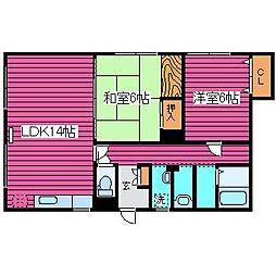 [テラスハウス] 北海道札幌市北区北三十一条西13丁目 の賃貸【北海道 / 札幌市北区】の間取り