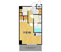兵庫県伊丹市平松4丁目の賃貸マンションの間取り
