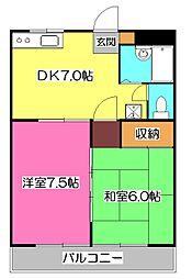ベルウッドマンション[3階]の間取り