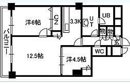 PRIMEURBAN札幌リバーフロント[406号室]の間取り