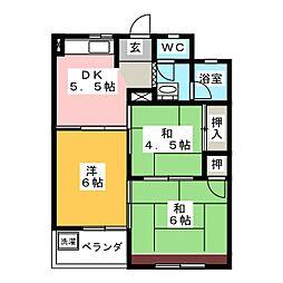 ハイツ松野[2階]の間取り