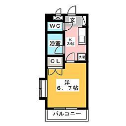 ホワイトベネス[2階]の間取り