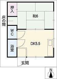 第3北谷荘[2階]の間取り