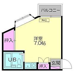 サンライズ西横浜[202号室号室]の間取り