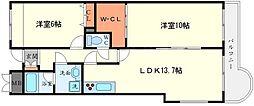 コロナール上野西[1階]の間取り