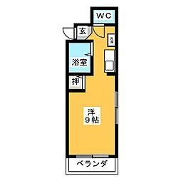 高崎中央マンション[3階]の間取り