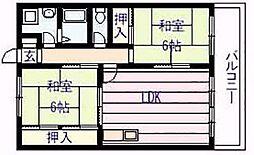 アメニティ カタシモ[2階]の間取り