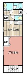 エビスシャルダンM&K[2階]の間取り