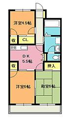 長島 ビル[206号室]の間取り