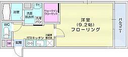仙台市地下鉄東西線 青葉通一番町駅 徒歩6分の賃貸マンション 1階1Kの間取り