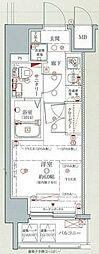 京急本線 子安駅 徒歩3分の賃貸マンション 11階1Kの間取り