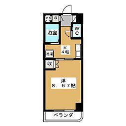 コンフォート峰[6階]の間取り