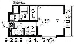 七神国府ビル[506号室号室]の間取り