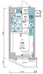 リヴシティ横濱インサイト[505号室]の間取り