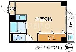 Y'sマンション[4階]の間取り