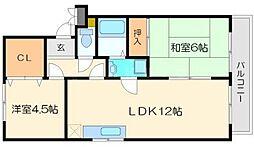 メゾンクラスタ[3階]の間取り