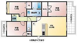 エオリアンハープ[2階]の間取り
