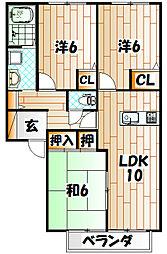 グランフレール[2階]の間取り