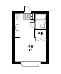 東京都目黒区碑文谷4丁目の賃貸アパートの間取り