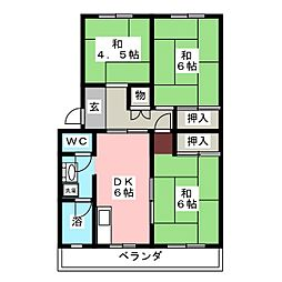 栄町ハイツ[4階]の間取り