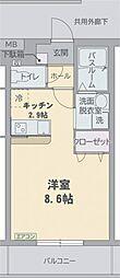 エル・フィネス三島[00103号室]の間取り