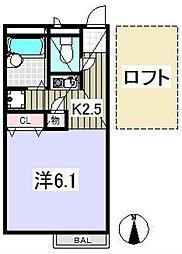 グランアルブル石神井公園[2階]の間取り