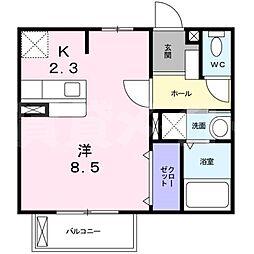 三重県伊賀市上野西大手町の賃貸アパートの間取り