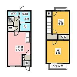 フローラ永田 B棟[1階]の間取り