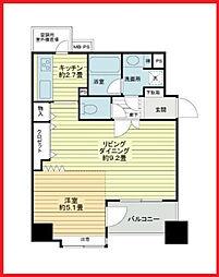 東京都台東区柳橋1丁目の賃貸マンションの間取り