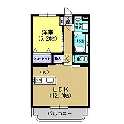 モンパルナス室田[3階]の間取り