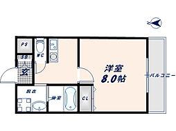 フェニックス東大阪1[502号室]の間取り
