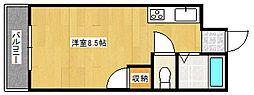 ベルハウスB[B403号室]の間取り