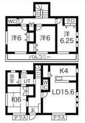 [一戸建] 東京都町田市能ヶ谷4丁目 の賃貸【/】の間取り
