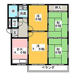 トヨタハイツ[3階]の間取り